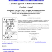A Practical Approach to the Late Effects of Polio