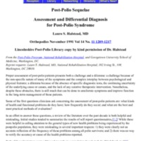 Assessment and Differential Diagnosis for Post-Polio Syndrome